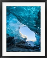 Framed Ice Cave In The Glacier Breidamerkurjokull