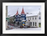 Framed Akureyri, Iceland During Winter