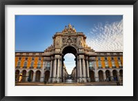 Framed Portugal, Lisbon, Rua Augusta, Commerce Square, Arched Entry