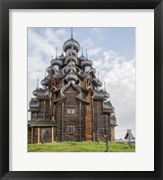 Framed Kizhi Pogost Wooden Church In Lake Onega Karelia Russia