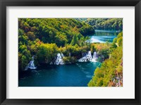 Framed Lake Kozjak And Travertine Cascades On The Korana River, Croatia