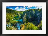 Framed Travertine Cascades On The Korana River, Plitvice Lakes National Park, Croatia