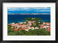 Framed Town Of Preko And The Dalmatian Coast From St Michael's Fort, Croatia