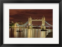 Framed Tower Bridge At Night London England