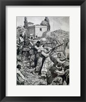 Framed First World War (1914-1918) Inhabitants Of Town Of Serbia Fight Against Austrian Troops