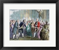 Framed Benjamin Franklin (1706-1790)
