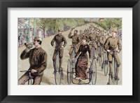 Framed American League Cycles In Pennsylvania Avenue Mid May 1884 Washington