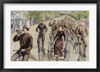 Framed American League Cycles In Pennsylvania Avenue Mid May 1884 Washington