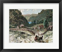 Framed Canadian Landscape In The Eighteenth Century 19th-Century