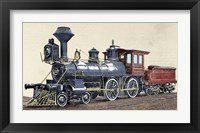 Framed Locomotive Drawing R Loewenstein 'La Ilustracion' 1881