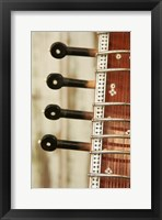 Framed Sitar String Instrument, India