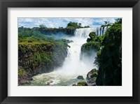 Framed Largest Waterfalls, Foz De Iguazu, Argentina