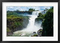 Framed Largest Waterfalls, Foz De Iguazu, Argentina