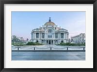 Framed Mexico City, Palacio De Bella Artes At Dawn