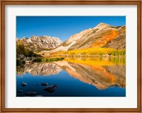 Framed California, Eastern Sierra, Fall Color Reflected In North Lake