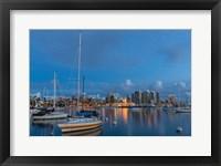 Framed San Diego Harbor Skyline