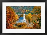 Framed St Sava Serbian Church In Autumn
