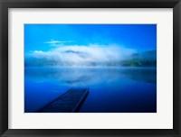 Framed Serenity On A Misty Lake