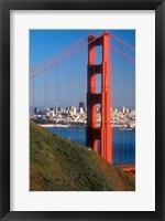 Framed North Tower Of The Golden Gate Bridge