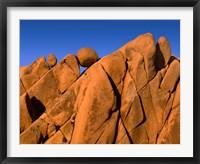 Framed Monzonite Granite Boulders At Sunset, Joshua Tree NP, California