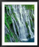Framed Burney Falls, California