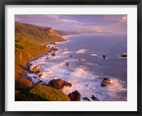 Framed View From High Bluff Overlook To Split Rock, California