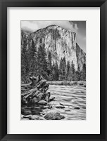Framed California, Yosemite, El Capitan (BW)
