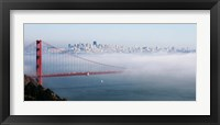 Framed San Francisco Golden Gate Bridge Disappearing Into Fog