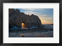 Framed Arch's Last Light At Pfeiffer Beach