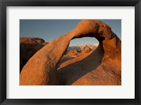 Framed Mobius Arch With Mt Whitney And The Sierra Nevada Range