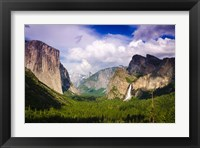 Framed Panoramic View Of Yosemite Valley