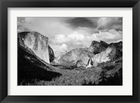 Framed Panoramic View Of Yosemite Valley (BW)