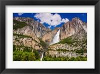 Framed Yosemite Falls, California