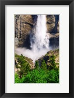 Framed Detail Of Upper Yosemite Falls