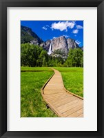 Framed Boardwalk Headed To Yosemite Falls
