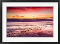 Framed Sunset Over Ventura Pier From San Buenaventura State Beach