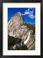 Framed Nevada Fall, Half Dome And Liberty Cap