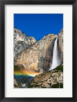 Framed Moonbow And Starry Sky Over Yosemite Falls, California