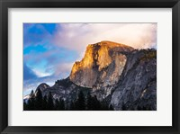 Framed Evening Light On Half Dome, California