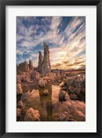 Framed Tufas At Sunset On Mono Lake
