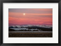 Framed Full Moon And Alpenglow Above Mosquito Range