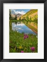 Framed Paradise Divide Pond Reflection
