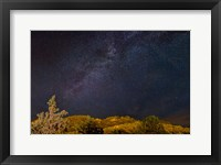 Framed Milky Way Above Mountains, Colorado