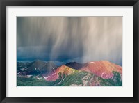 Framed Storm Moving Over Mountains Near Crested Butte, Colorado