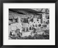 Framed Cliff Palace, Mesa Verde, Colorado (BW)