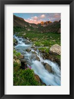 Framed Rocky Mountain Sunset In The American Basin