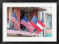 Framed River Street Flags, Savannah, Georgia