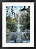 Framed Fountain In Forsyth Park, Savannah, Georgia