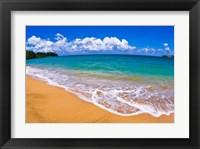 Framed Blue Waters On Hanalei Bay, Island Of Kauai, Hawaii