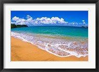 Framed Blue Waters On Hanalei Bay, Island Of Kauai, Hawaii